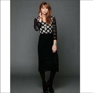 Free People | Rare Crochet Midi Dress